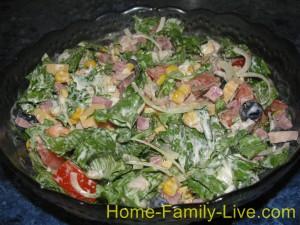 Салат из копченной курицы