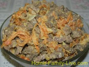 Салат из легкого