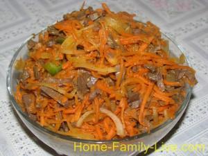 Салат из острой морковки с легким