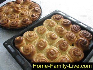 Французские булочки с корицей, булочки улитки