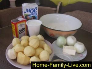 То что нам понадобится для вареников с картошкой