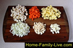 Овощи для фасолевого супа
