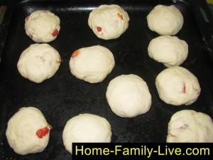 Сформовать круглые булочки