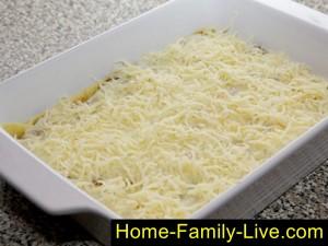 Слой натертого  твердого сыра