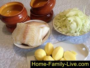 Рыба с картошкой в духовке фото