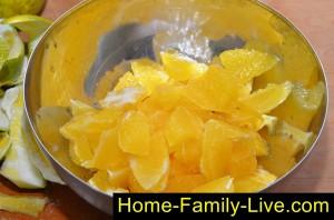Почистить апельсины
