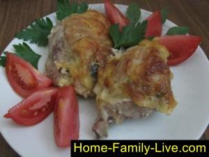 Курица запеченная под сыром