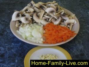 Овощи для супа из тыквы