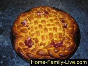 Пирог из тыквенного теста