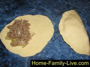Пирожки с мясом на кефиром тесте
