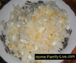 Начинка для курника из яиц и риса