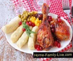 Курица в клюквенно-медовом маринаде
