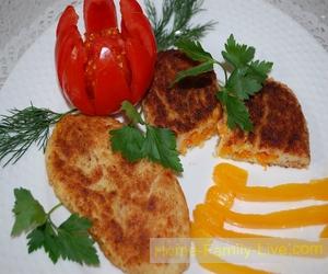 Картофельные котлеты с овощной начинкой