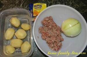 Пирожки с мясом и картошкой