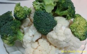 Брокколи и цветная капуста запечные