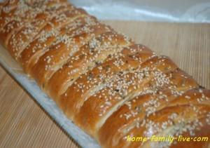 Сырно-колбасная плетенка